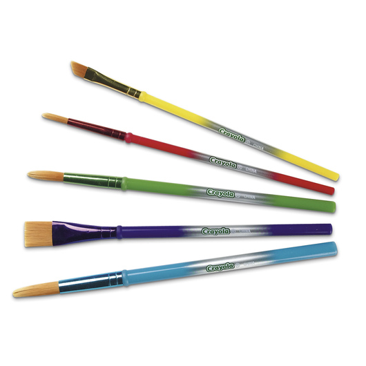 Crayola® Arts & Crafts Brushes - Set of 5