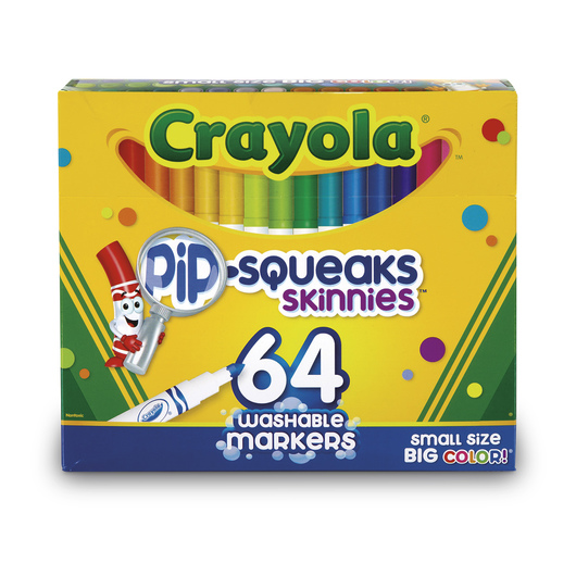 Crayola® Washable Pip-Squeaks™ Skinnies® - Set of 64