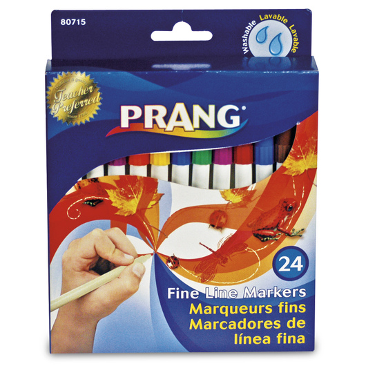 PRANG® Fine-Line Markers - Set of 24