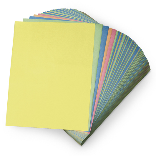 Pacon® Rainbow Newsprint Assortment - 500-Sheet Reams - 9 in. x 12 in.
