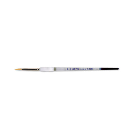 Royal Brush® Soft-Grip™ Golden Taklon Brush - Size 3 Round