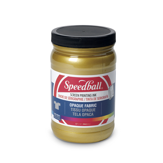 Speedball® Opaque Fabric Screen Printing Ink - 32-oz. Jar - Gold