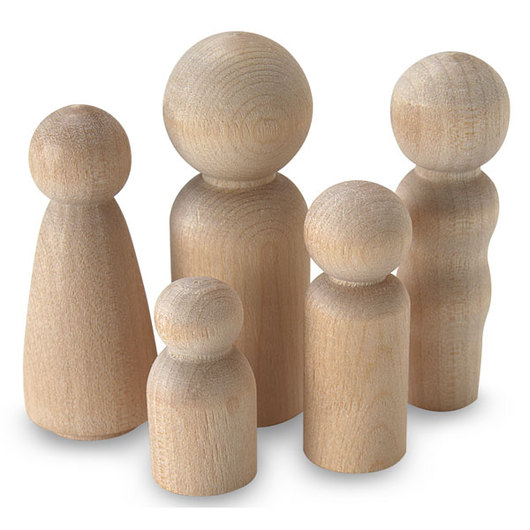 Assorted Wood People Shapes - Pkg. of 40