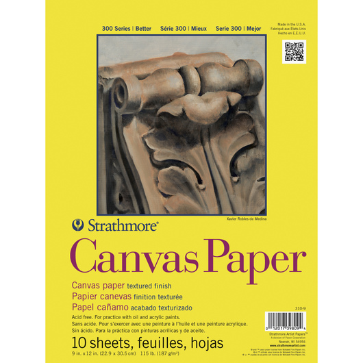 Strathmore® 300 Series Canvas Paper - 9 in. x 12 in. - 10-Sheet Pad