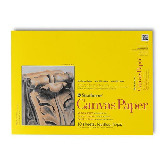 Strathmore® 300 Series Canvas Paper - 12 in. x 16 in. - 10-Sheet Pad