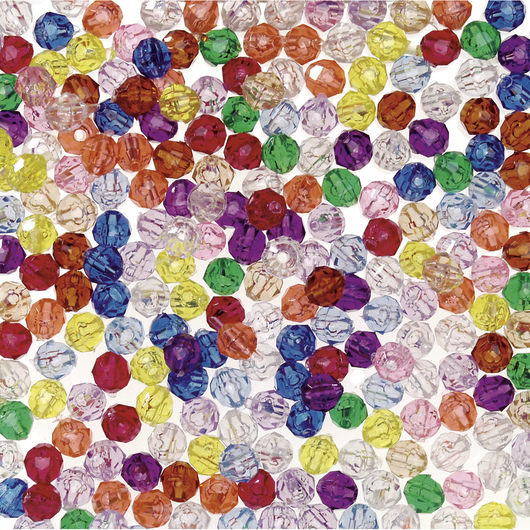 8 mm Multicolored Faceted Beads - 1-lb. Pkg.