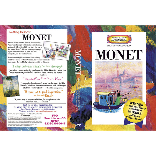 Getting to Know the World's Greatest Artists: Claude Monet - DVD
