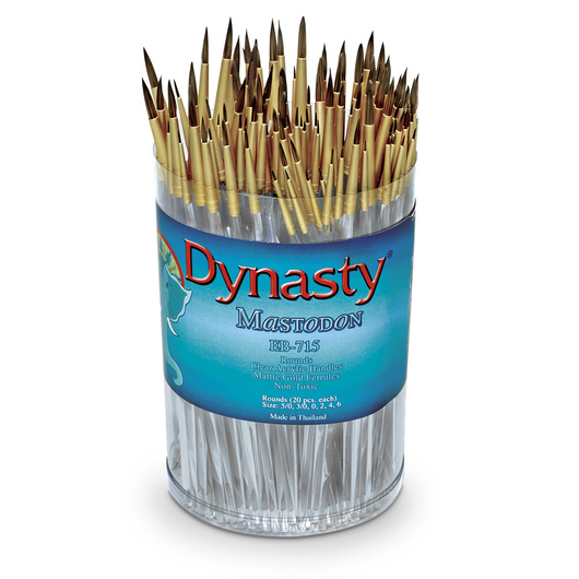 EB-715 Dynasty® Mastodon Golden Synthetic Brushes - 120 Rounds
