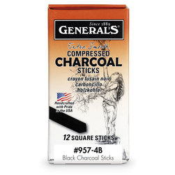 General's® Compressed Charcoal 4B - Box of 12