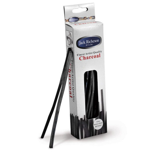 Jack Richeson® 3/16 in. Charcoal Sticks - Thin Medium - Box of 24