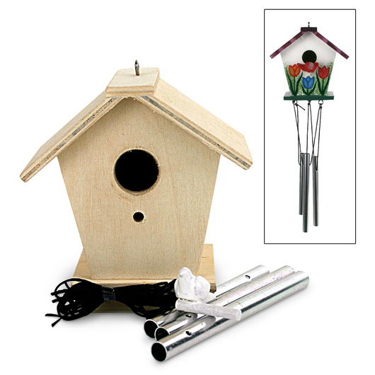 Tackle-it-Kits Bird House Wind Chimes