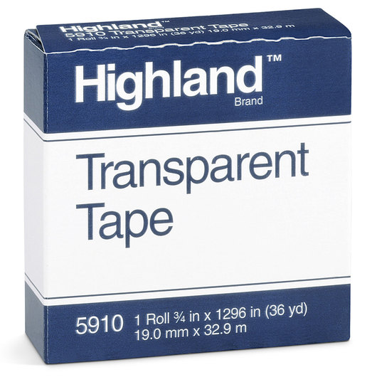 Transparent Highland® Tape - 3/4 in. x 36 yds.