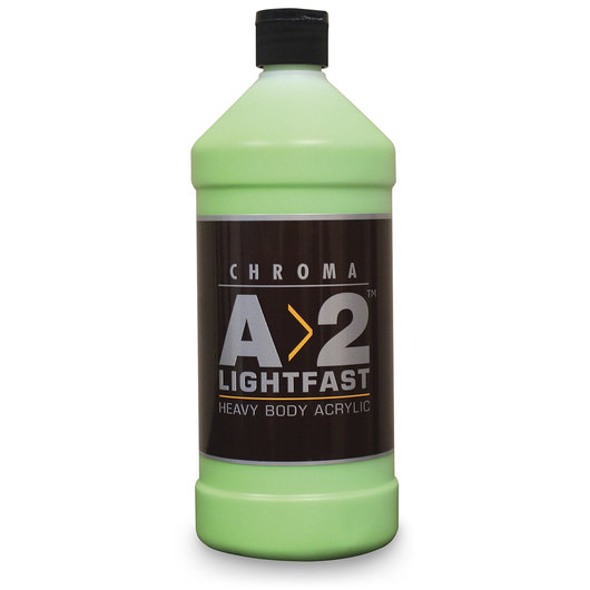 Chroma® A>2 Lightfast Heavy Body Artist Acrylic Liter Bottle - Green Light