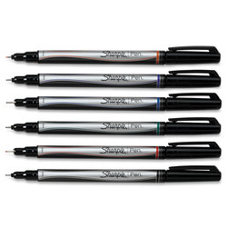 Sharpie® Fine Point Pens - Set of 6 Classic Colors