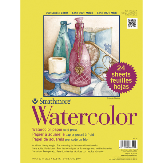 Strathmore® 300 Series Cold Press Watercolor Paper 9 in. x 12 in.