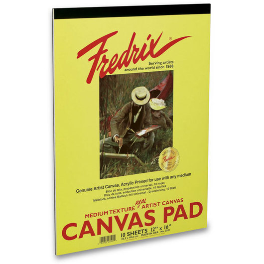 "Fredrix® ""Real""Canvas Pad - 8 in. x 12 in. - 10 Sheets"