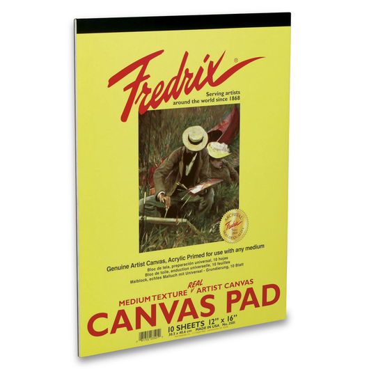 "Fredrix® ""Real""Canvas Pad - 12 in. x 16 in. - 10 Sheets"