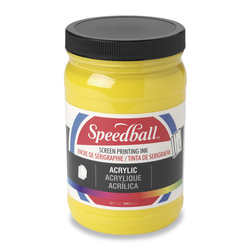Speedball® Permanent Acrylic Screen Printing Ink - 32 oz. - Medium Yellow