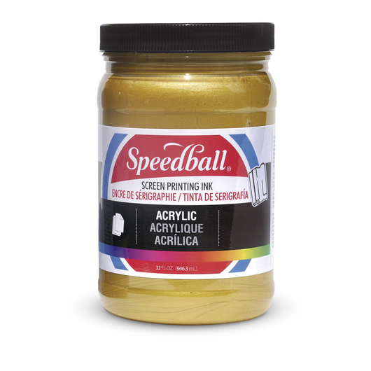 Speedball® Permanent Acrylic Screen Printing Ink - 32 oz. - Gold