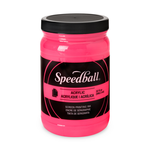 Speedball® Permanent Acrylic Screen Printing Ink - 32 oz. - Fluorescent Hot Pink