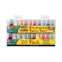 Scribbles® Dimensional Fabric Paint Set - Pack of 20