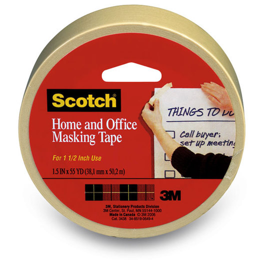 Scotch® General-Purpose Masking Tape - 60-yd. Roll - 1-1/2 in. Wide