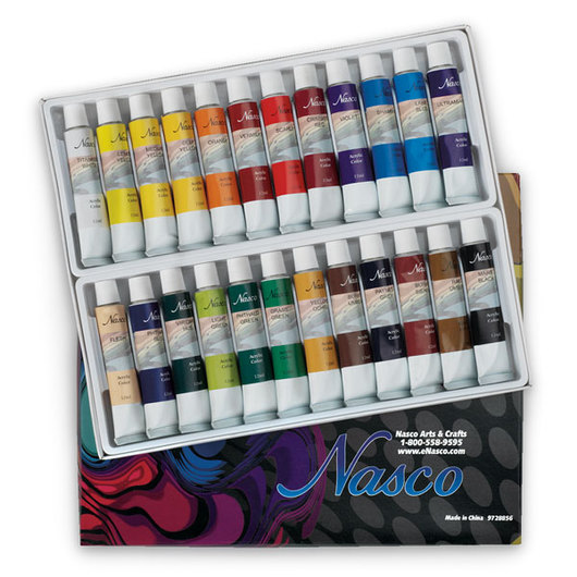 Nasco Acrylic Paint Set of 24 - 12 ml