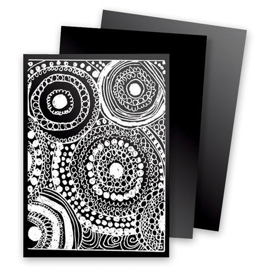 Scratch-Art® Black Scratchboard Trading Cards - Pack of 52