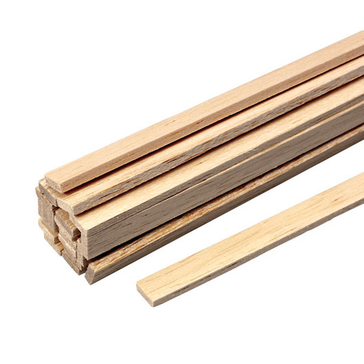 Balsa Wood - 36 in. Strips - 1/8 in. x 1/4 in.