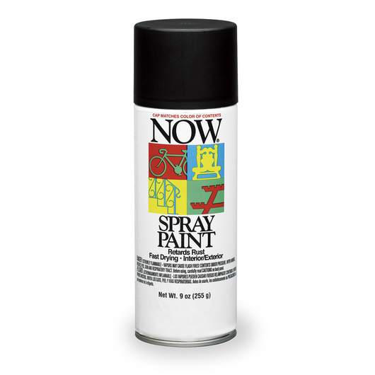 Krylon® Now® Spray Enamel Paint - 9 oz - Wrought Iron Flat Black