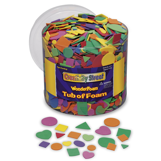 Pacon® WonderFoam® Geometric Foam Shapes - 8-oz. Tub