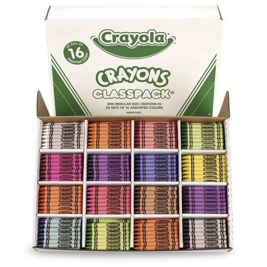 Crayola® Classic Color Crayons - Classpacks® of 800 - 16 Colors