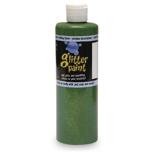Chroma® Washable Glitter Paint - Pint - Green