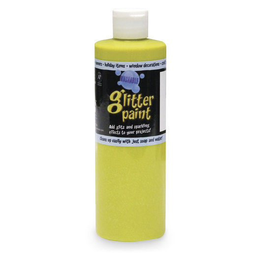 Chroma® Washable Glitter Paint - Pint - Yellow