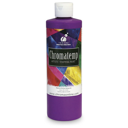 Chromatemp® Fluorescent Tempera Paint - Pint - Violet