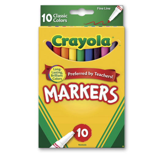 Crayola® Classic Color Fine Tip Markers - Set of 10