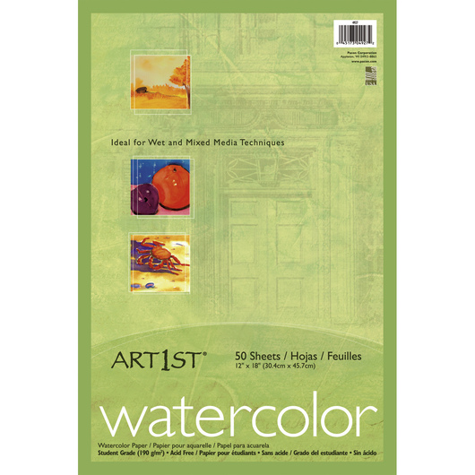 Pacon® Art1st® Watercolor Paper - 50 Sheets - 90 lb. - 12 in. x 18 in.
