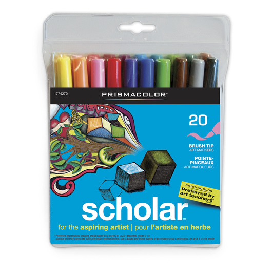 Scholar™ by PRISMACOLOR® Art Markers - Set of 20
