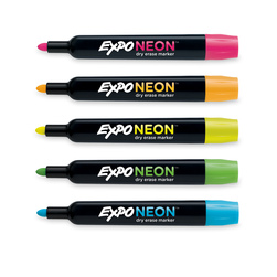 EXPO Low-Odor - Neon Bullet Tip Dry-Erase Markers