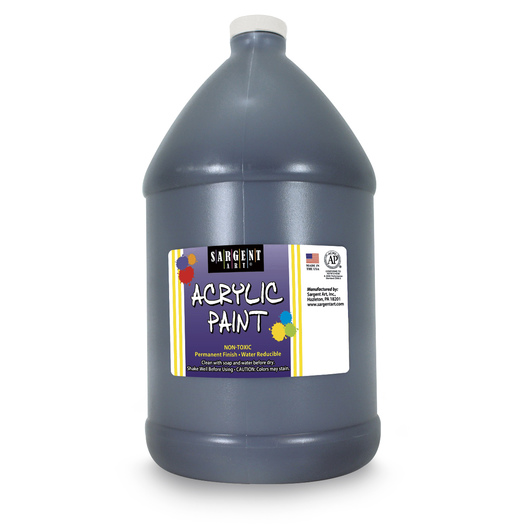 Sargent Art® Acrylic Paint - 1/2 Gallon - Black
