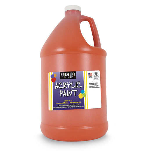Sargent Art® Acrylic Paint - 1/2 Gallon - Orange