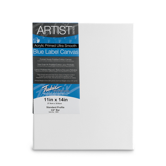 Fredrix® Artist Blue Label Ultrasmooth Stretched Canvas - 11 in. x 14 in.