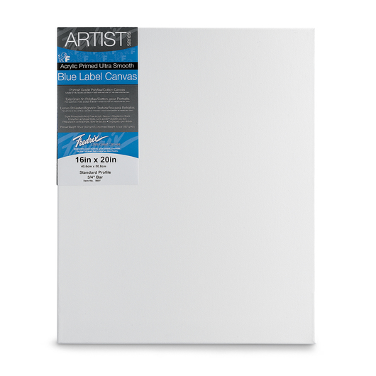 Fredrix® Artist Blue Label Ultrasmooth Stretched Canvas - 16 in. x 20 in.