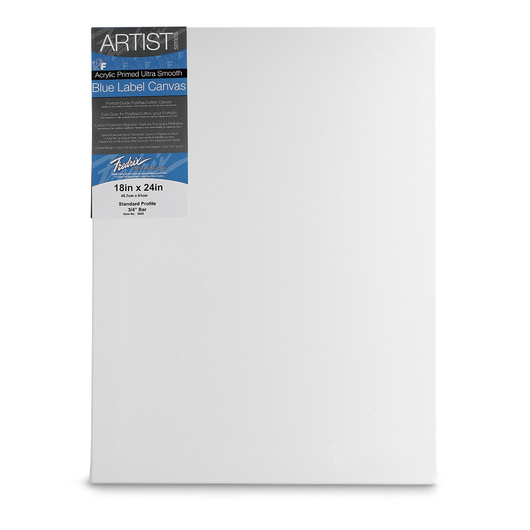 Fredrix® Artist Blue Label Ultrasmooth Stretched Canvas - 18 in. x 24 in.