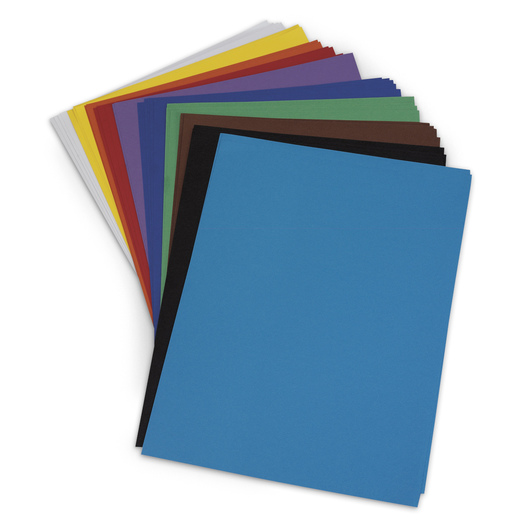 Nasco Premium Construction Paper - 9 in. x 12 in. - 50 Sheets - 65 lb. - Assorted Colors