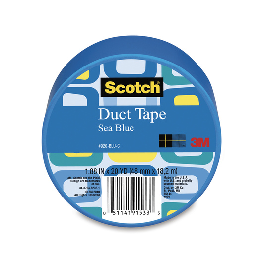 Scotch® Lightweight Colored Duct Tape - 1-7/8 in. x 20-yd. Roll - Blue