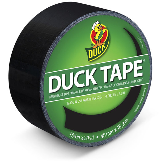 Duck® Brand Colored Duct Tape - 1-7/8 in. x 20 yds. - Black