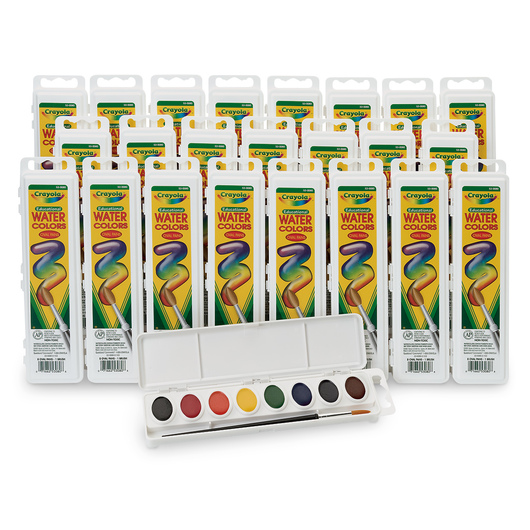 Nasco/Crayola® Oval Pan 8-Color Watercolor Classroom Pack of 24