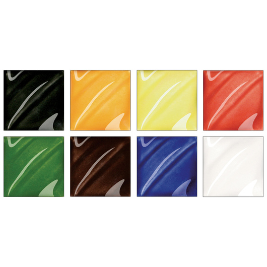 AMACO® Lead-Free Low-Fire Teacher's Palette® Gloss Glaze (Cone 05) - Set of 8 Gallons