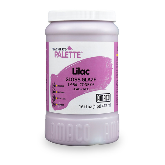 AMACO® Lead-Free Low-Fire Teacher's Palette® Gloss Glaze (Cone 05) - Pint - Lilac